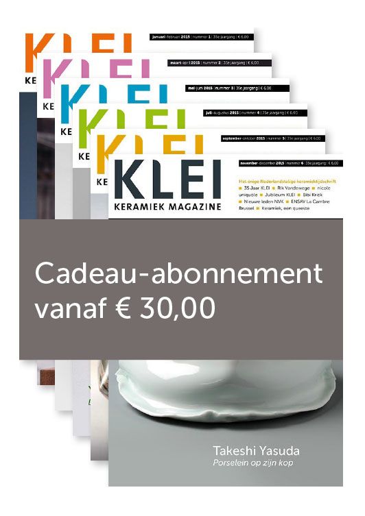 Cadeau Abonnement Klei Keramiek Magazine